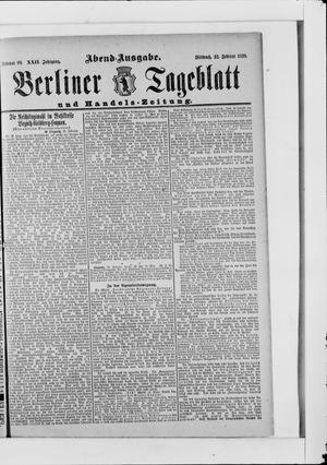 Berliner Tageblatt und Handels-Zeitung vom 22.02.1893