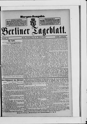 Berliner Tageblatt und Handels-Zeitung vom 23.02.1893