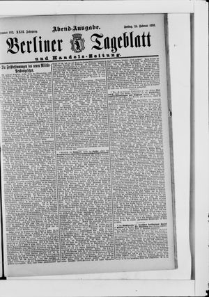 Berliner Tageblatt und Handels-Zeitung vom 24.02.1893