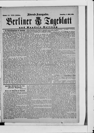 Berliner Tageblatt und Handels-Zeitung vom 02.03.1893
