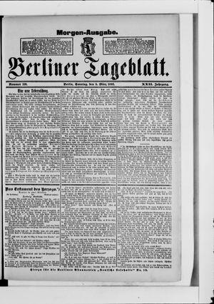 Berliner Tageblatt und Handels-Zeitung vom 05.03.1893
