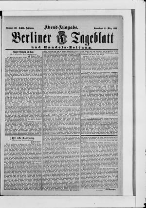 Berliner Tageblatt und Handels-Zeitung vom 11.03.1893