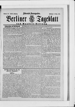Berliner Tageblatt und Handels-Zeitung vom 15.03.1893