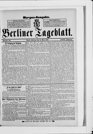 Berliner Tageblatt und Handels-Zeitung vom 24.03.1893