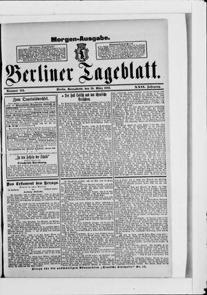 Berliner Tageblatt und Handels-Zeitung vom 25.03.1893