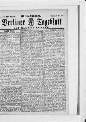 Berliner Tageblatt und Handels-Zeitung vom 29.03.1893