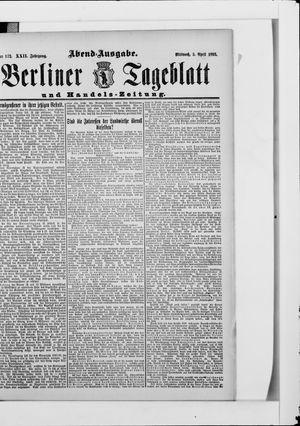 Berliner Tageblatt und Handels-Zeitung vom 05.04.1893