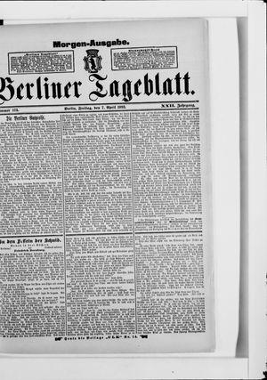 Berliner Tageblatt und Handels-Zeitung vom 07.04.1893
