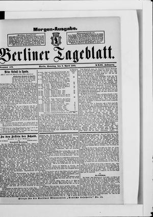 Berliner Tageblatt und Handels-Zeitung vom 09.04.1893