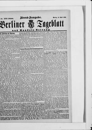 Berliner Tageblatt und Handels-Zeitung vom 10.04.1893
