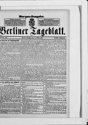 Berliner Tageblatt und Handels-Zeitung vom 11.04.1893