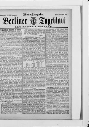 Berliner Tageblatt und Handels-Zeitung vom 14.04.1893