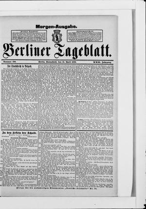 Berliner Tageblatt und Handels-Zeitung vom 15.04.1893