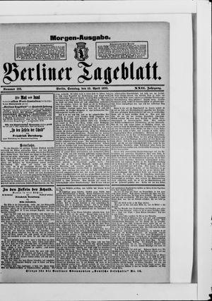 Berliner Tageblatt und Handels-Zeitung vom 16.04.1893
