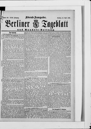 Berliner Tageblatt und Handels-Zeitung vom 18.04.1893