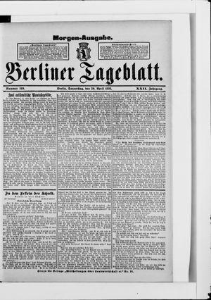 Berliner Tageblatt und Handels-Zeitung vom 20.04.1893
