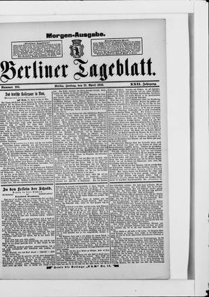 Berliner Tageblatt und Handels-Zeitung vom 21.04.1893