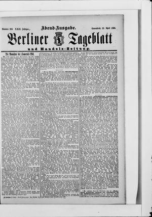 Berliner Tageblatt und Handels-Zeitung vom 22.04.1893