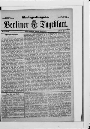 Berliner Tageblatt und Handels-Zeitung vom 24.04.1893