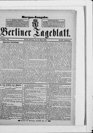Berliner Tageblatt und Handels-Zeitung vom 28.04.1893