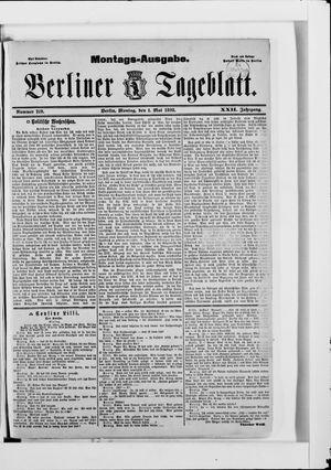 Berliner Tageblatt und Handels-Zeitung vom 01.05.1893
