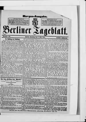 Berliner Tageblatt und Handels-Zeitung on May 7, 1893