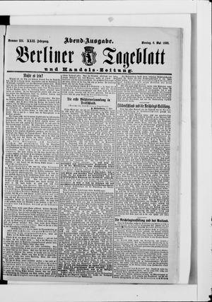 Berliner Tageblatt und Handels-Zeitung vom 08.05.1893