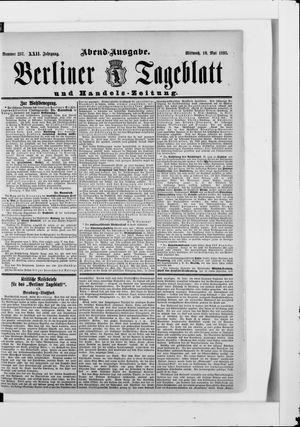 Berliner Tageblatt und Handels-Zeitung vom 10.05.1893