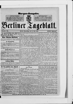 Berliner Tageblatt und Handels-Zeitung vom 11.05.1893