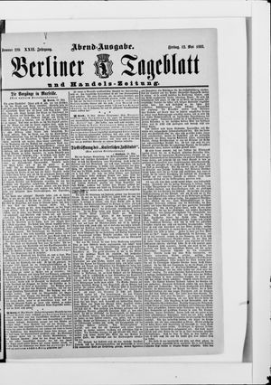 Berliner Tageblatt und Handels-Zeitung vom 12.05.1893