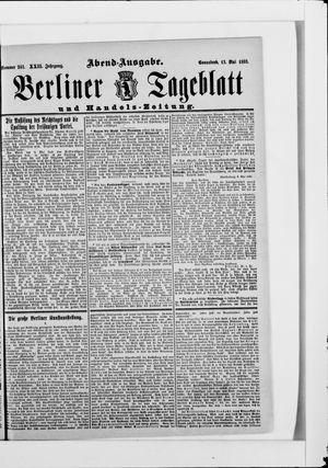 Berliner Tageblatt und Handels-Zeitung on May 13, 1893