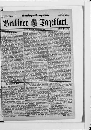 Berliner Tageblatt und Handels-Zeitung vom 15.05.1893