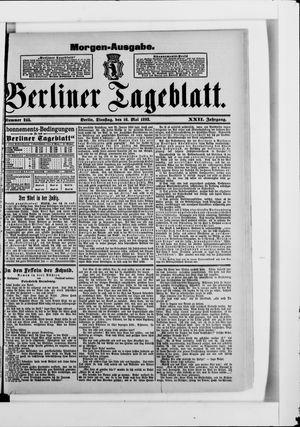 Berliner Tageblatt und Handels-Zeitung on May 16, 1893
