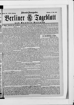 Berliner Tageblatt und Handels-Zeitung vom 17.05.1893
