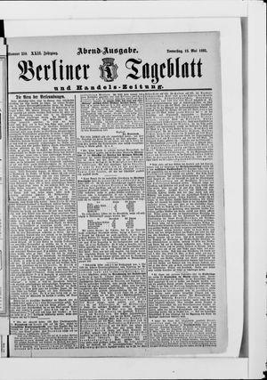 Berliner Tageblatt und Handels-Zeitung vom 18.05.1893
