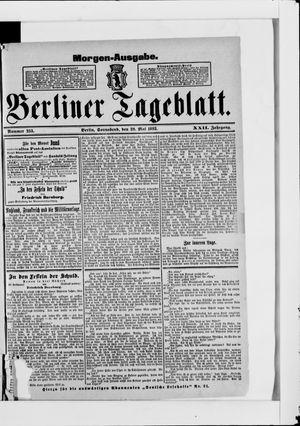 Berliner Tageblatt und Handels-Zeitung vom 20.05.1893
