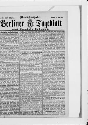 Berliner Tageblatt und Handels-Zeitung vom 23.05.1893