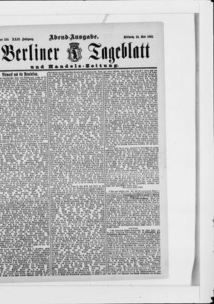 Berliner Tageblatt und Handels-Zeitung vom 24.05.1893