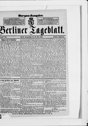 Berliner Tageblatt und Handels-Zeitung vom 25.05.1893