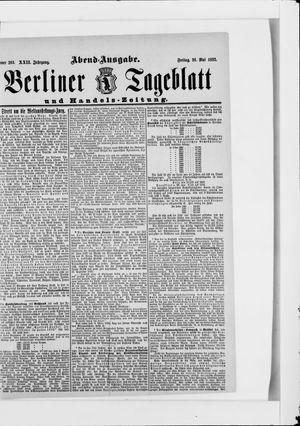 Berliner Tageblatt und Handels-Zeitung vom 26.05.1893