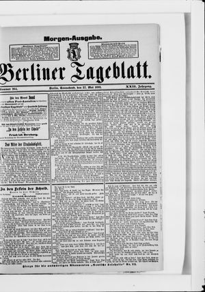 Berliner Tageblatt und Handels-Zeitung vom 27.05.1893