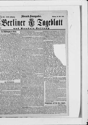 Berliner Tageblatt und Handels-Zeitung vom 29.05.1893