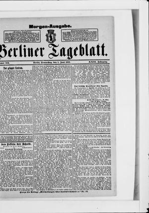 Berliner Tageblatt und Handels-Zeitung vom 01.06.1893