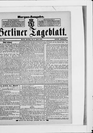 Berliner Tageblatt und Handels-Zeitung vom 02.06.1893