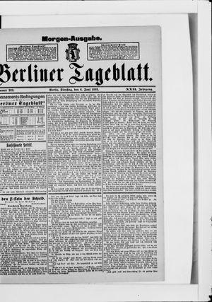 Berliner Tageblatt und Handels-Zeitung vom 06.06.1893