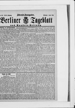 Berliner Tageblatt und Handels-Zeitung vom 07.06.1893