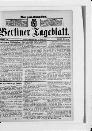 Berliner Tageblatt und Handels-Zeitung vom 10.06.1893
