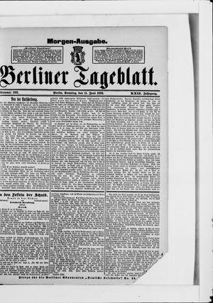Berliner Tageblatt und Handels-Zeitung vom 11.06.1893