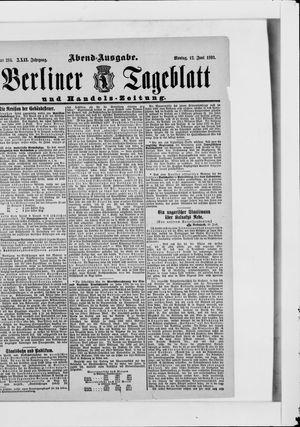 Berliner Tageblatt und Handels-Zeitung vom 12.06.1893