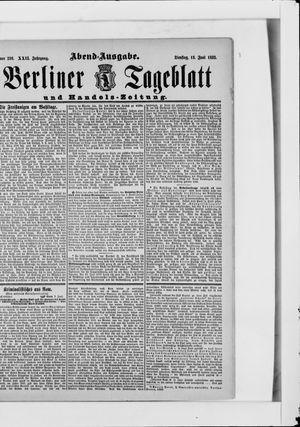 Berliner Tageblatt und Handels-Zeitung vom 13.06.1893